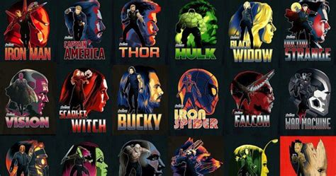 infinity war character posters bring  marvels