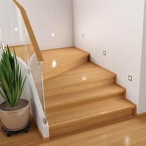 LED Treppen Licht Treppenbeleuchtung Eckig 8x8cm 230V