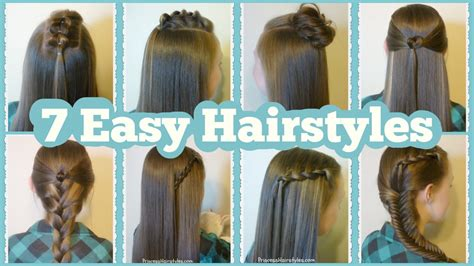 7 quick easy hairstyles for school hairstyles for princess hairstyles
