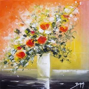 Tableau Fleurs Moderne : peinture bouquet de fleurs de bruni artiste peintre ~ Teatrodelosmanantiales.com Idées de Décoration