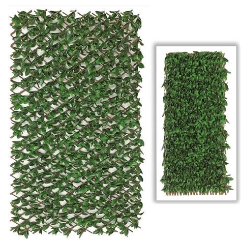 esessentials  ft    ft  beach leaf accordion expandable wall willow composite fence panel