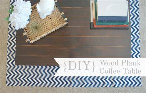 {diy} Wood Plank Coffee Table  The Monogrammed Life