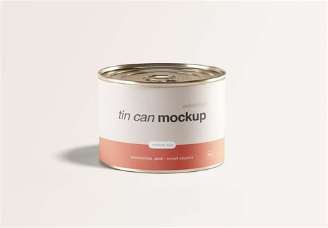 Mockups design is a site where you can find free premium mockups that can be used in your private and commercial work. Free Tin Can Mockup | Tin can, Mockup free psd, Free mockup