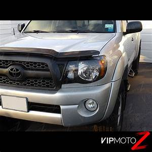 2011 Tacoma Parking Light Bulb For 05 11 Toyota Tacoma Quot Trd Style Quot Black Front Headlights