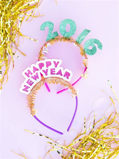 Diy New  Ee  Year Ee  S Headband A Little Craft In Day