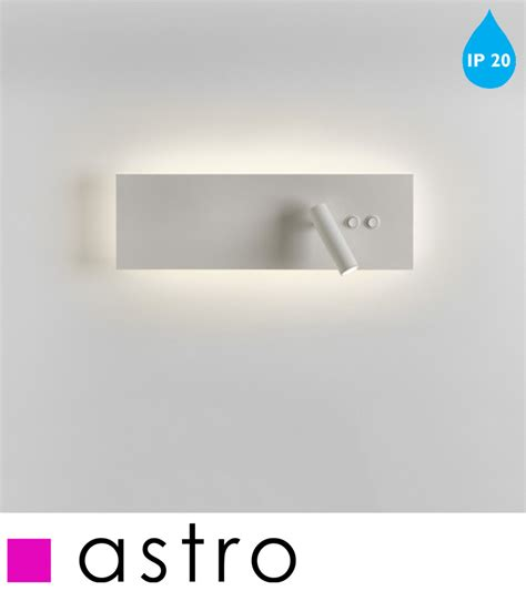 astro edge reader ip20 led switched wall light white