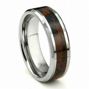 tungsten carbide crimson riverstone inlay wedding band ring With tungsten carbide wedding rings