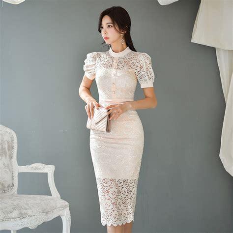 Vasaras Balta Mežģīņu Kleita Midi Eleganta Kleita ...