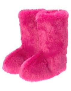 Pink Fuzzy Boot Slippers