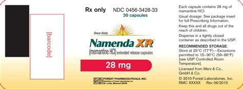 Namenda XR (Forest Laboratories, Inc.): FDA Package Insert ...
