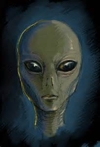 Grey Gray Alien Drawings