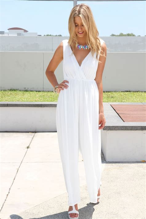 white jumpsuit for wedding heaven playsuit bridesmaids rompers