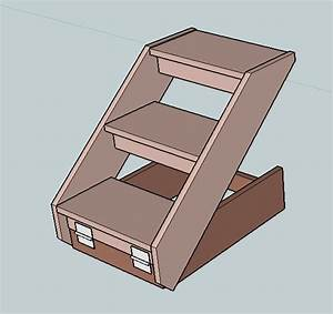 Pdf diy folding dog stairs woodworking plan download kayak for Dog stairs plans
