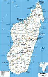 Detailed Clear Large Road Map of Madagascar - Ezilon Maps