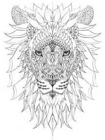 Adult Mandala Coloring Page Lion