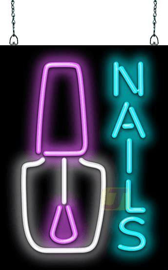 nails  nail polish neon sign hn   jantec neon