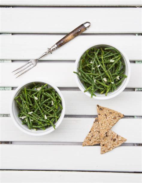 salicorne cuisine salicorne à table