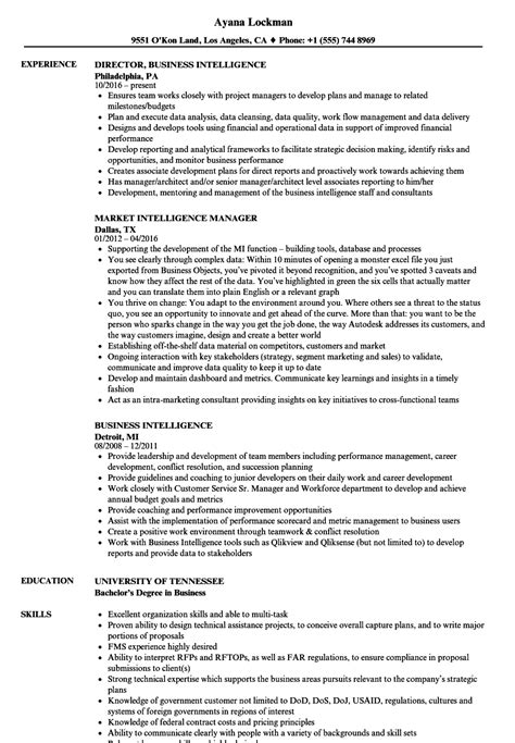 Intelligence Resume Samples | Velvet Jobs