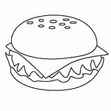 Coloring Cheeseburger Junk Pages Appetizing Burger Colour Burgers Template Taco Drawing Draw Colornimbus Google sketch template