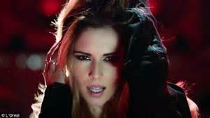 when did color tv began cheryl cole whips hair back and forth in a new