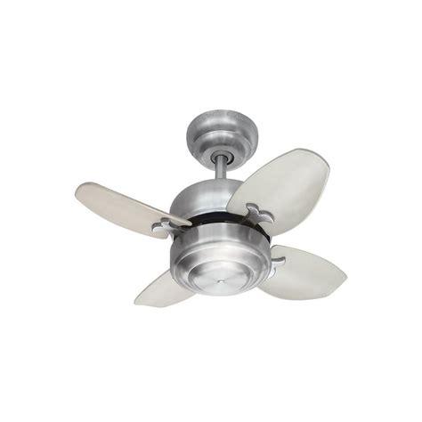 mini ceiling fan with light monte carlo mini 20 20 in brushed steel ceiling fan