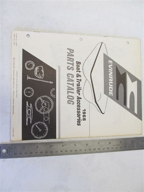 Boat Trailer Parts Catalog by 1968 Evinrude Boat Trailer Accessories Parts Catalog