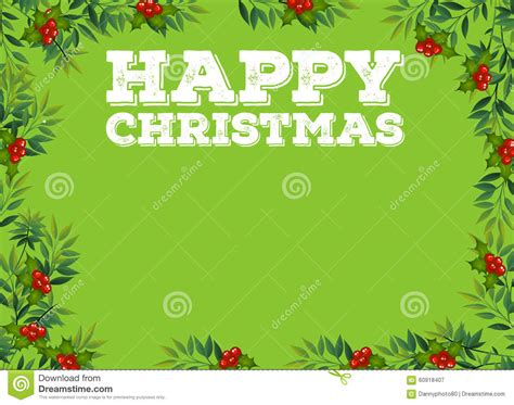 happy christmas sign with mistletoes stock vector image