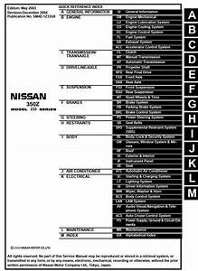 Nissan 350z Model Z33 Series 2004 Service Manual  Sm4e