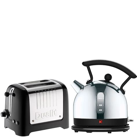 dualit dome kettle and 2 slot toaster bundle black