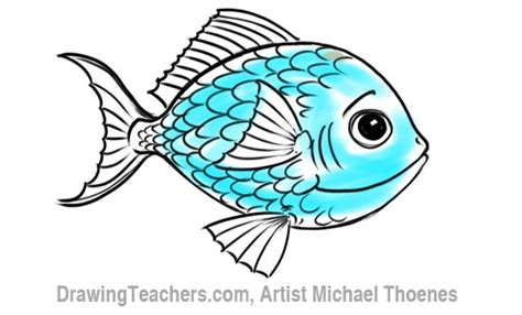 draw  cartoon fish