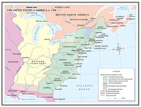 when was the united states of america formed what of water formed the western boundary of the the united states in 1783 socratic