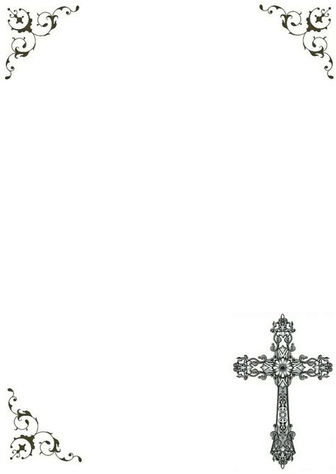 beautiful printable cross frame clip art borders