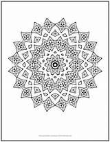 Coloring Chain Mandala sketch template
