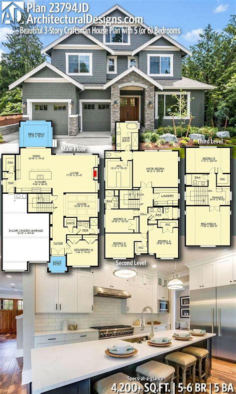 plan jd beautiful  story craftsman house plan