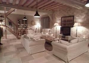 salon ambiance campagne chic poutre recherche google With meuble style campagne chic 15 a la recherche de la plus belle maison du monde