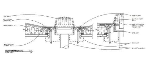 Zurn Floor Sink Revit by Cad Block Of A Roof Drain Detail Cadblocksfree Cad