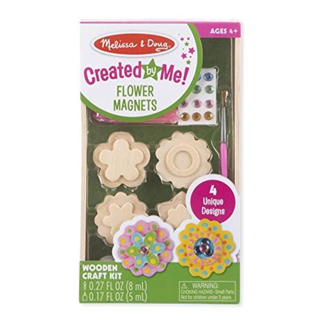 melissa doug created   flower wooden magnets craft