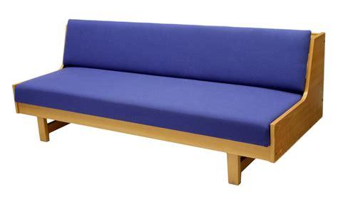 danish modern beech wood sofa day bed italian danish