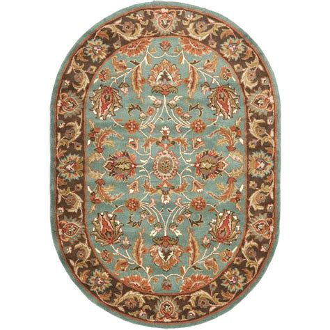 Blue Oval Rug by Safavieh Heritage Blue Brown 5 Ft X 7 Ft Oval Area Rug