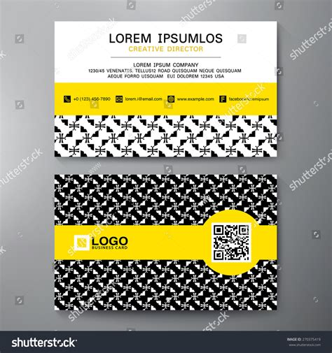modern business card design template vector stock vector