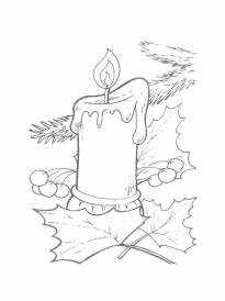 Bougie De Noel Dessin : coloriage bougies de no l sur ~ Voncanada.com Idées de Décoration
