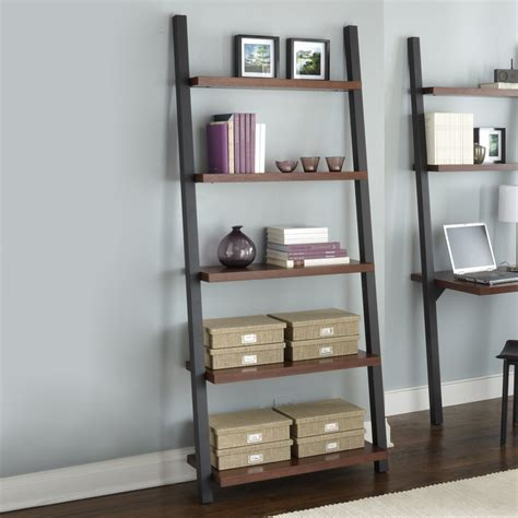Walmart Glass And Metal Computer Desk by Ladder Bookshelf And Desk Furniture Kicking Ladder Shelf