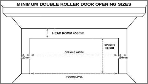 garage door height standard garage door sizes single roller doors
