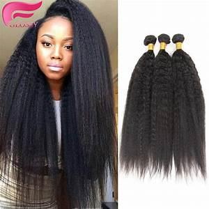 yaki human hair kinky straight brazilian coarse yaki ...