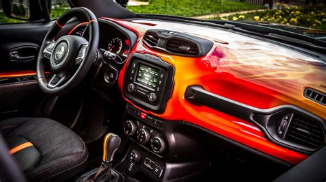 The Jeep Renegade Hells Revenge Gets Lit Up By Harley