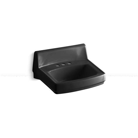 black bathroom sink drain kohler greenwich wall mount vitreous china bathroom sink