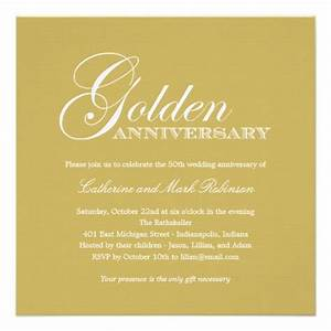 golden wedding anniversary invitation 525quot square With golden wedding anniversary invitations