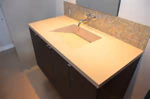 Integrated Sink And Countertop by Quartz Integrated Sinks Modern Vanity Tops And Side