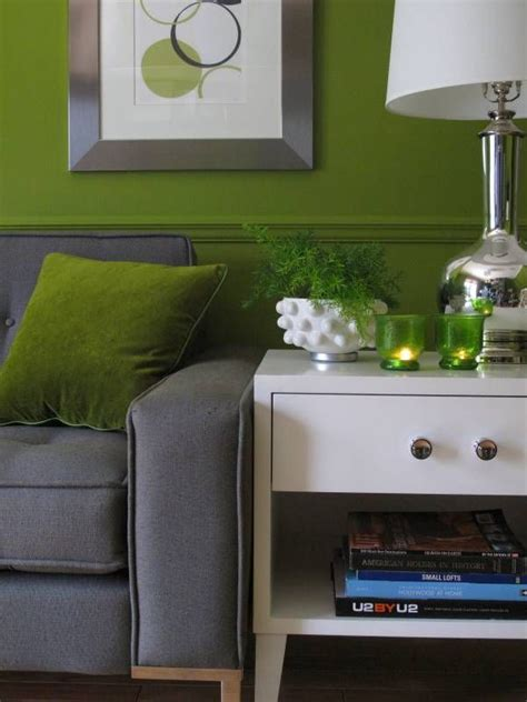 Green And Grey Living Room Walls by Retro Mid Century Modern Green Grey Living Room Or