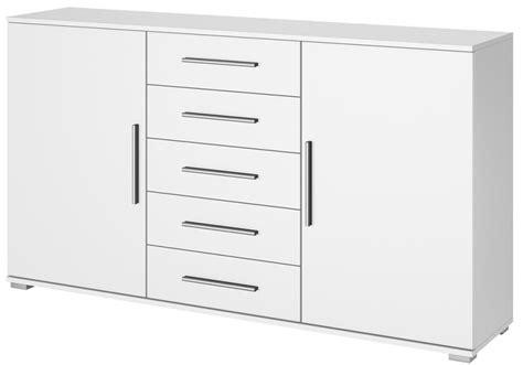 commode design laqu 233 e blanc 5 tiroirs 2 portes quadra lestendances fr